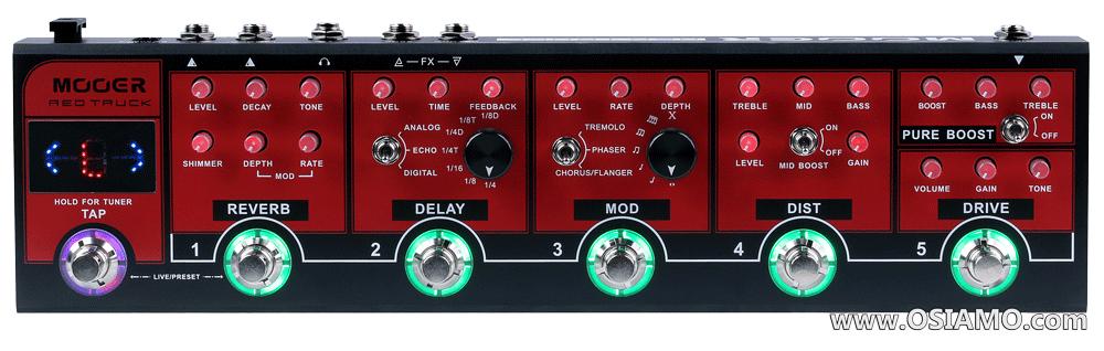 Mooer Red Truck Electric Guitar Multi Effects Pedal MREDTRUCK